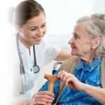Nurse and women in Nursing Home