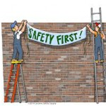 Picture saying safety first