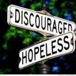street sign discourage hopeless
